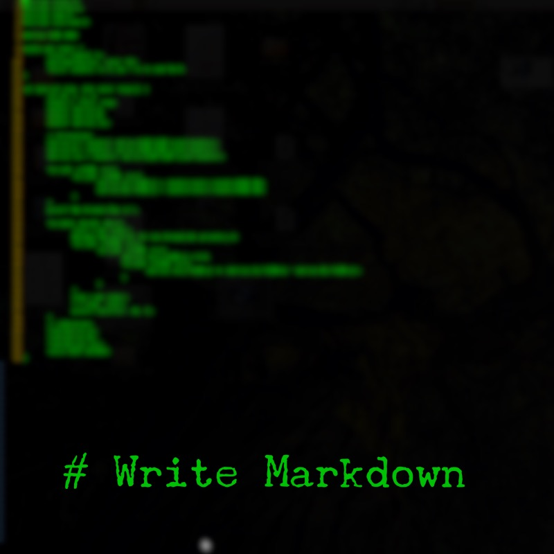 Write Markdown