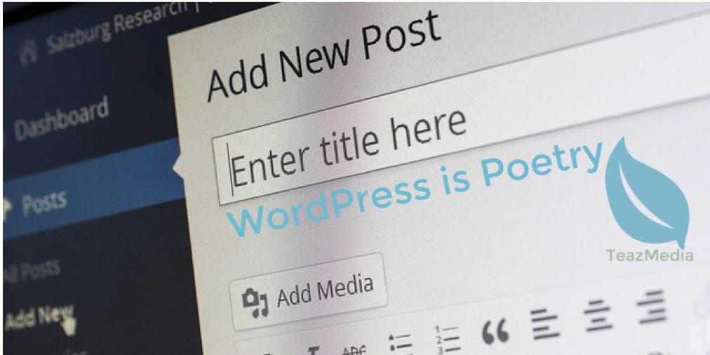 WordPress is Poetry