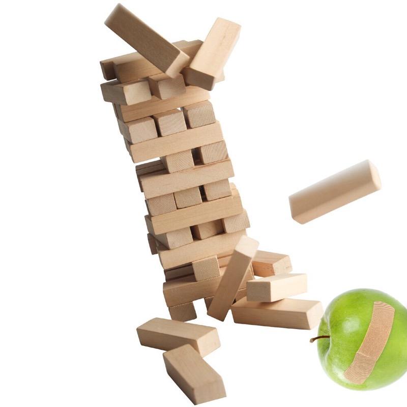 falling blocks and apple