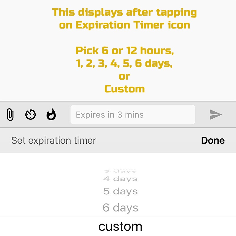 Select your timer duration