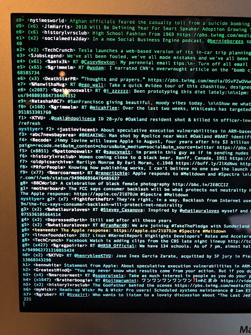 ousttyer twitter terminal client